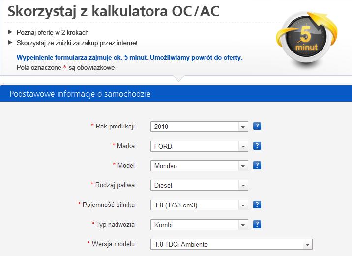 Kalkulator Oc Ac Aviva Aviva Direct Por Wnaj Ceny 11